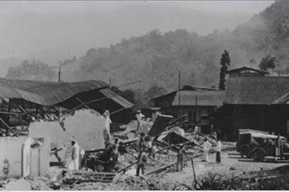 Gempa 1926, Luluh Lantakan Kota Padang Panjang