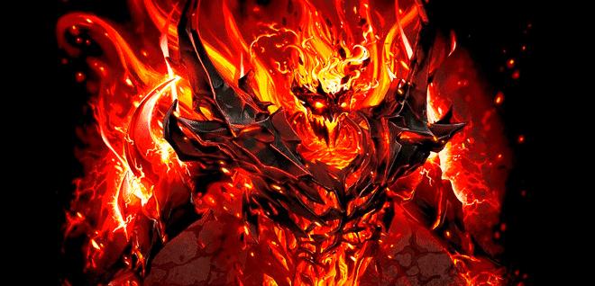Demonio nevermore del videojuego dota separado en colores por Indexado