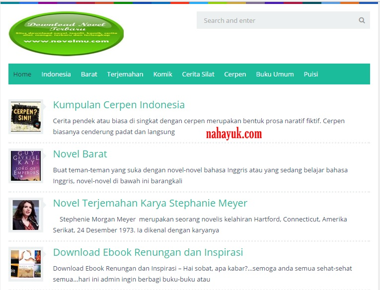 Situs Ebook Novel Gratis
