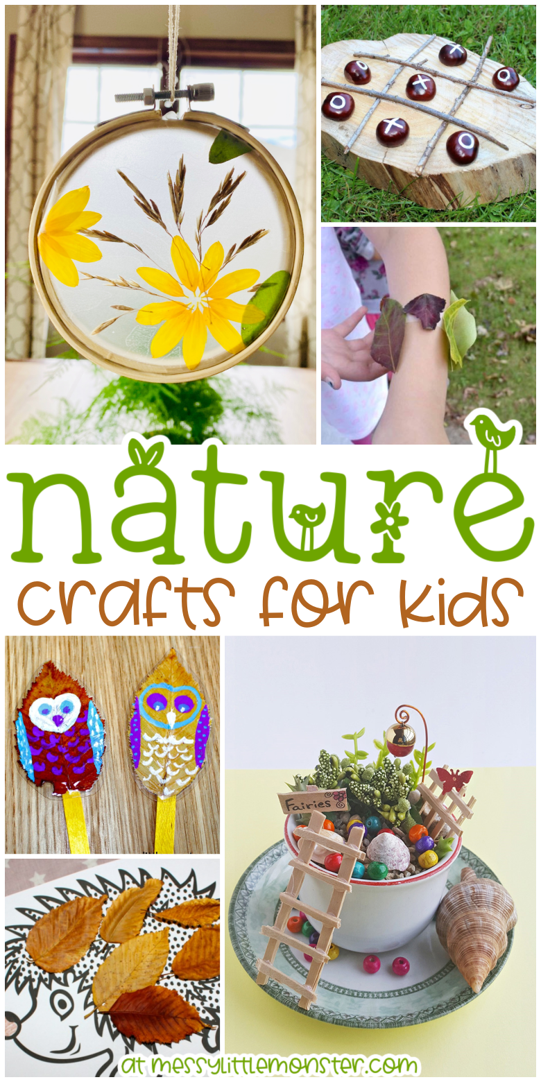 Nature crafts for kids. Nature art projects