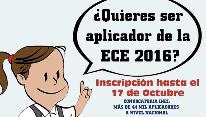 Inei convocatoria aplicadores ece 2016 minedu minedu for Convocatoria docentes 2016 ministerio de educacion