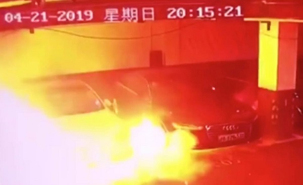 Tesla Model S explotó en China