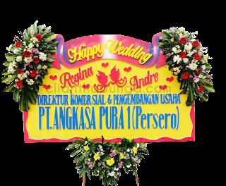 bunga papan pernikahan cantik murah