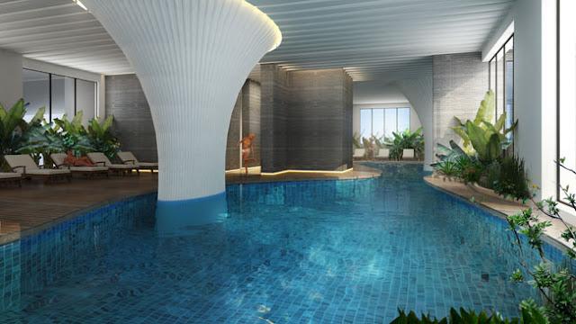 Bể bơi 4 mùa chung cư Ecolife Capitol