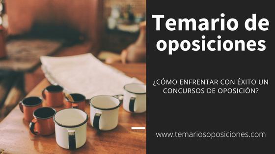 Temario de oposiciones, concepto e importancia
