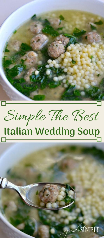 ITALIAN WEDDING SOUP  #vegetarian #easy #recipes #mushroom #cauiflower