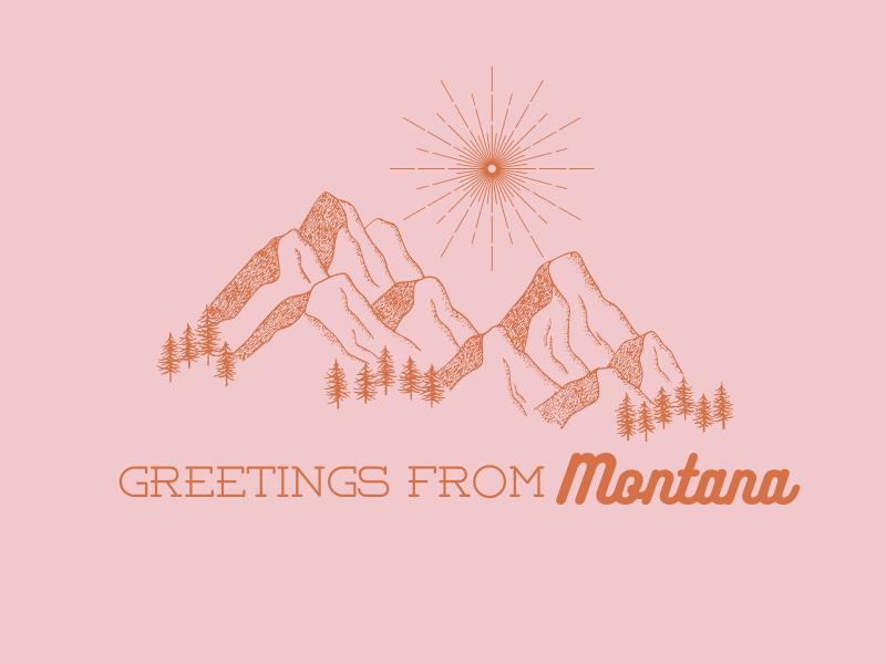 Greetings from Montana Postcard | biblio-style.com