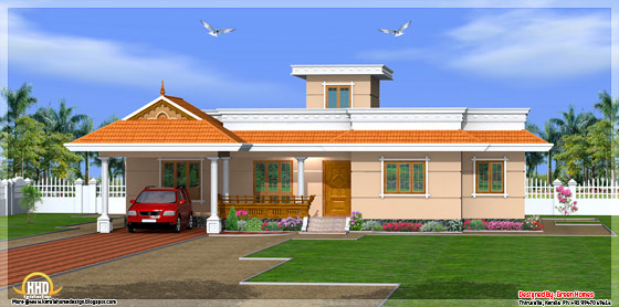 May 2012 kerala home design and floor plans for Single floor house elevations indian style