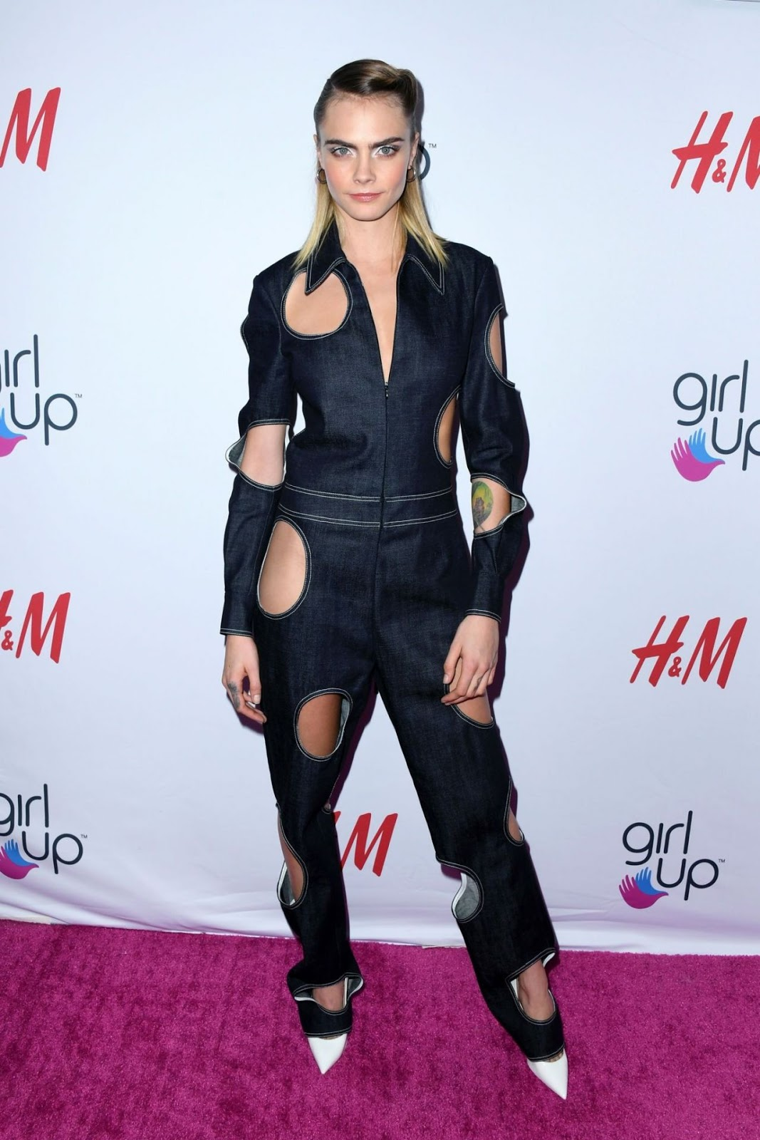 Cara Delevingne makes an eclectic statement at the 2019 Girl Up #GirlHero Awards