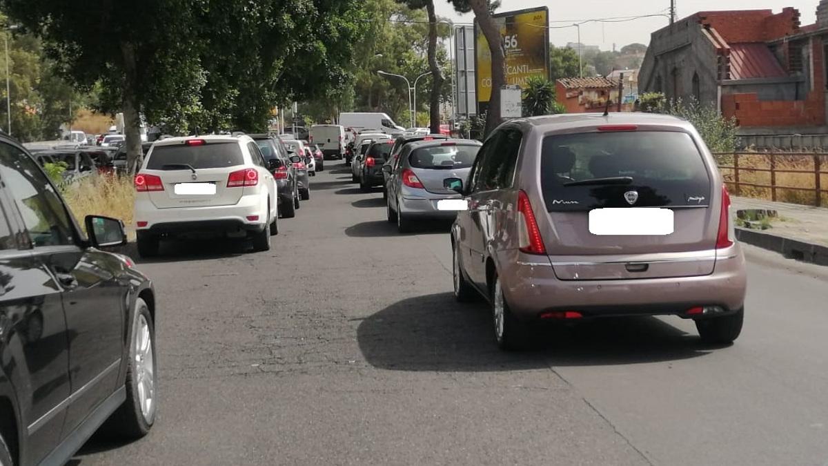 traffico circonvallazione di catania