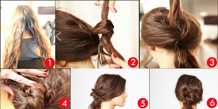 Peachy Updo Hairstyles For School Step By Step Picture Ideas With Quick Hairstyles For Women Draintrainus