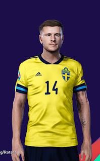 PES 2021 Faces Mattias Johansson by Majin