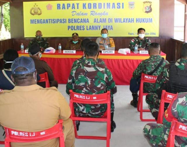 Daniel Prionggo Pimpin Rakor Kesiapan Penanggulangan Bencana Alam di Lanny Jaya