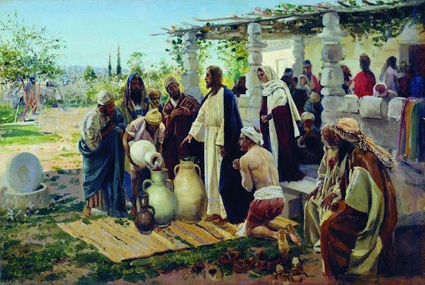 Маковский Владимир Егорович - Чудо в Кане. 1887