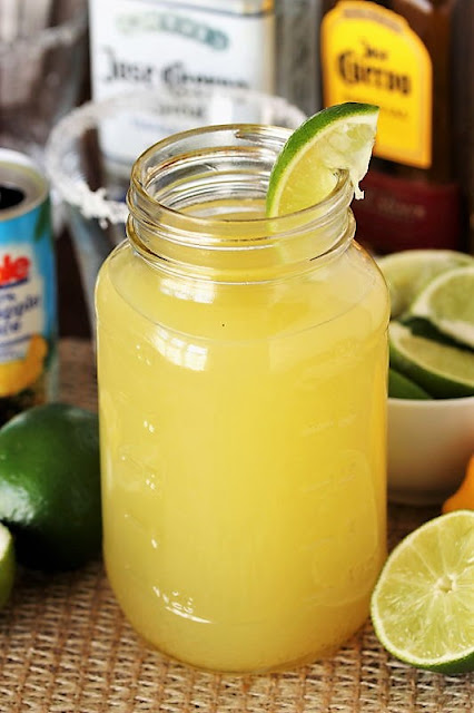 Container of Homemade Margarita Mix Image