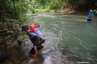 Khao Sok jungle creek crossing