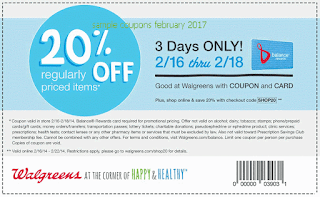 Walgreens coupons february 2017