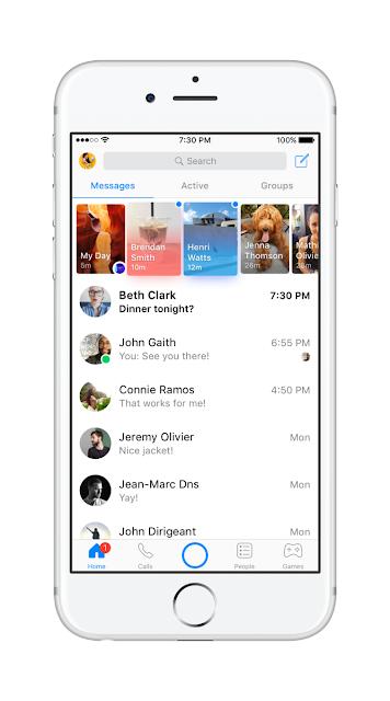 Facebook Messenger new design -sooloaded.net