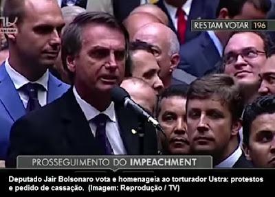 Bolsonaro elogiando Ustra