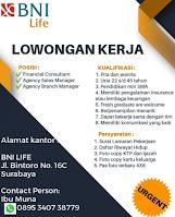 Open Recruitment at BNI Life Surabaya Februari 2021