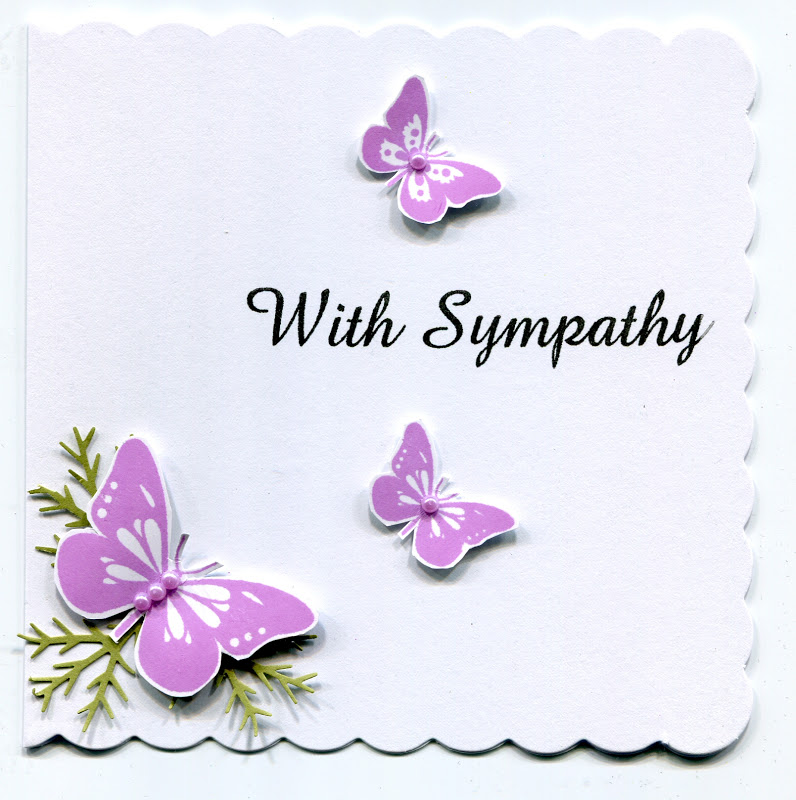 Stamps and Paper: Sympathy card....