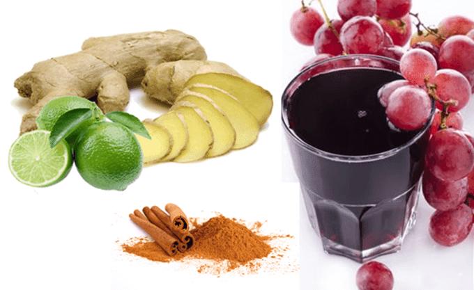 suco-detox-gengibre-uva-limão-canela