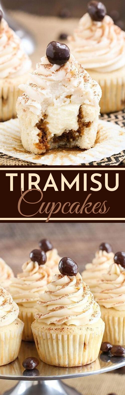 Tiramisu Cupcakes #cake #desserts #baking #cupcakes #recipes