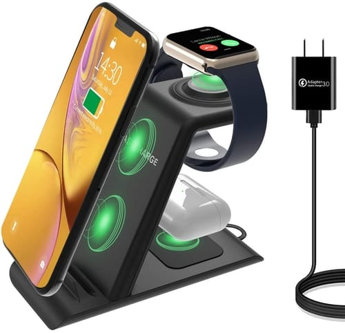 HATALKIN JH12 3 in 1 Wireless Charging Station