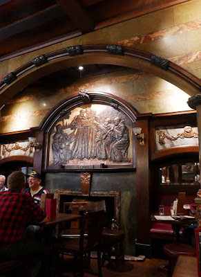 The interior of The Black Friar pub