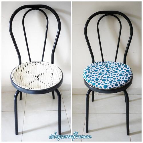 cara membuat jok kursi bulat tipis