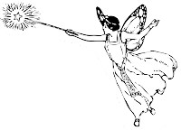 Fairy with magic wand
