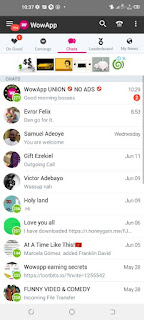 Earn while chatting on wowapp