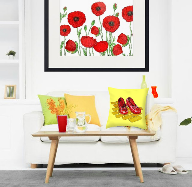 Bestselling Watercolor Painting of Red Poppies artist Irina Sztukowski