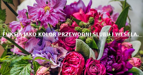 Biżuteria ślubna Pillow Design Fuksja Jako Kolor Przewodni ślubu I