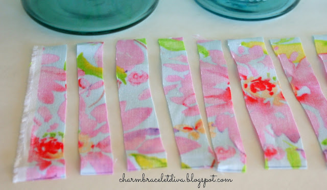 floral fabric Mod Podge Mason jar