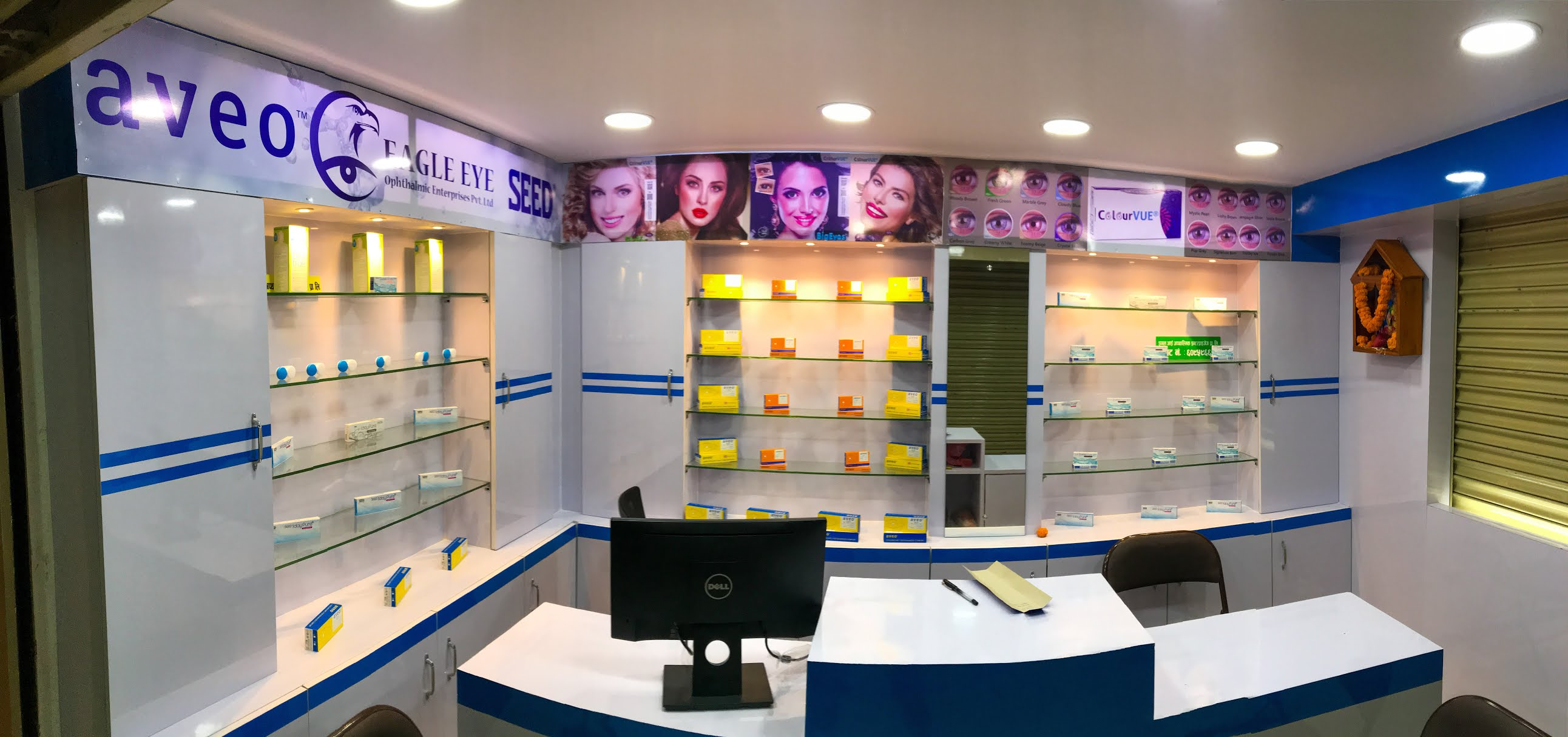 Contact lens store at Nepal by eagle eye ophthalmic enterprises pvt ltd