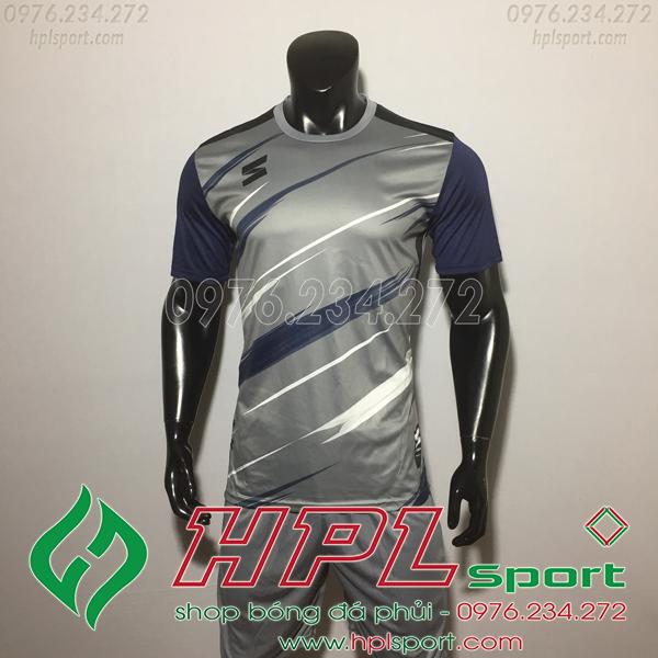 Áo bóng đá không logo TL HML Inza màu xám