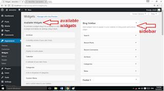 Wordpress website me widgets add kaise kare
