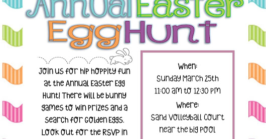 Let's Go Hunt for Eggs: Celebrate Easter Egg Hunt 2018 with the Sycamore Terrace Apartments in Temecula