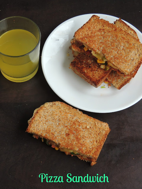Vegetarian Pizza Sandwich