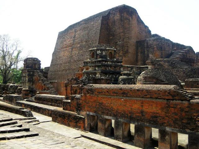 The Sariputta stupa, the oldest structure in Nalanda.