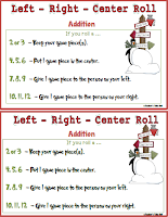 Free Left Right Center #Christmasgames
