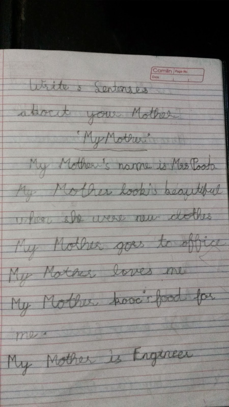 Essay about a mother