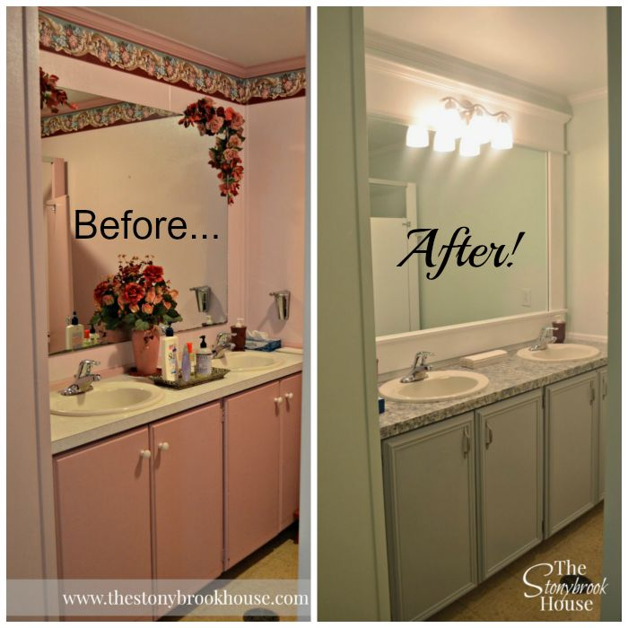 Ladies Church Bathroom Before and After