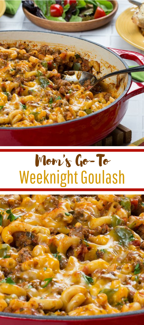 Mom's Go-To Weeknight Goulash #dinner #comfortfood