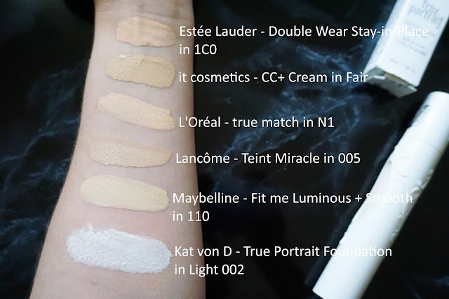 Kat von D - True Portrait Foundation Swatches Light 002