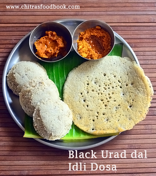 Black urad dal idli dosa recipe