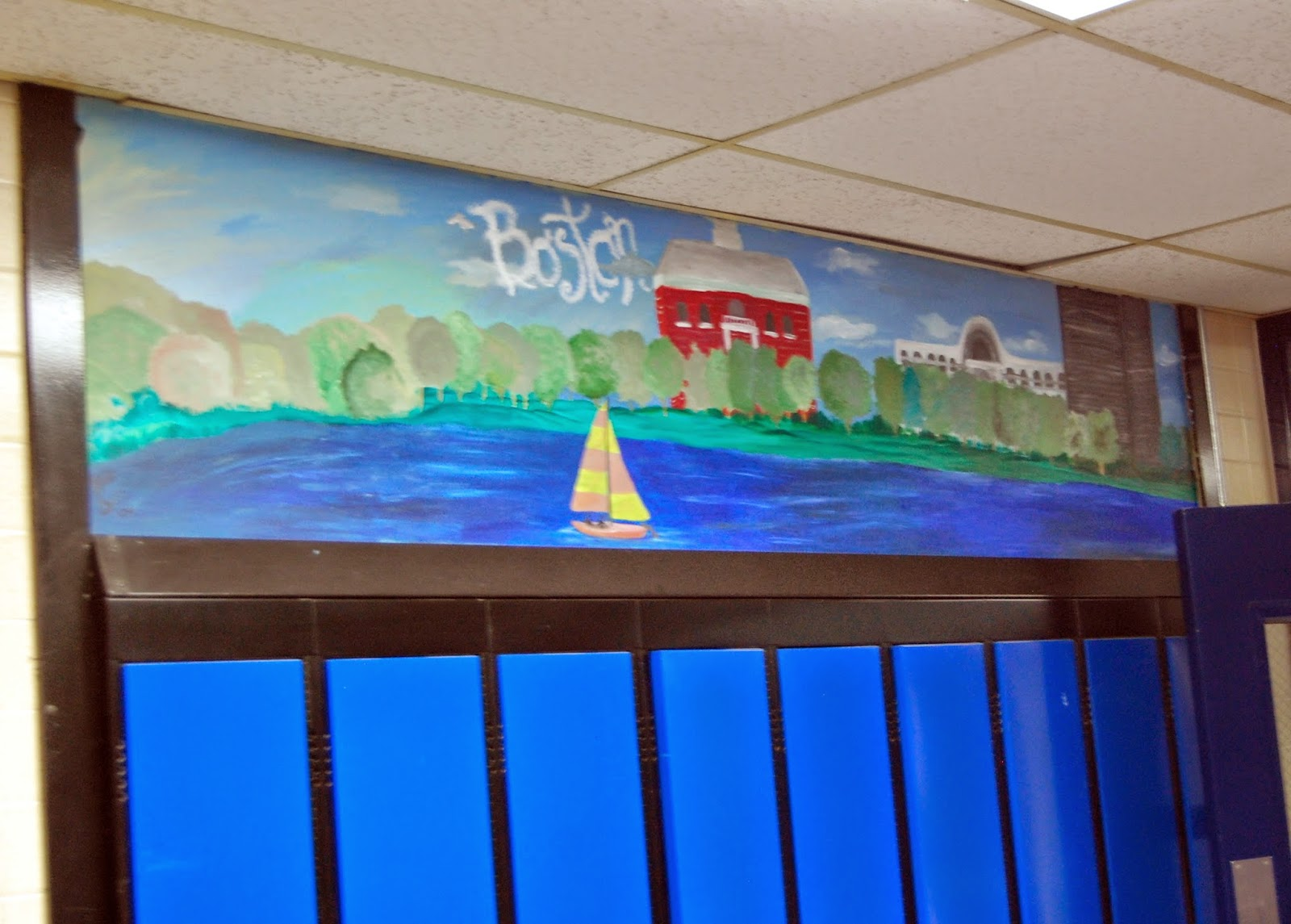 student art above the lockers 1