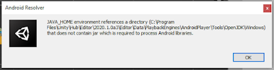 Unity ERROR: JAVA_HOME is not set and no 'java' command could be found in your PATH. Hatası Çözümü