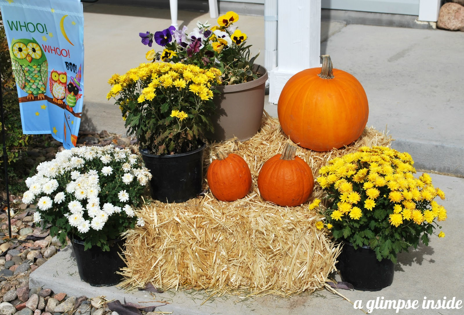 A Glimpse Inside Fall Fever My Fall Decor & Fall Hay Bale Decorating Ideas - Elitflat